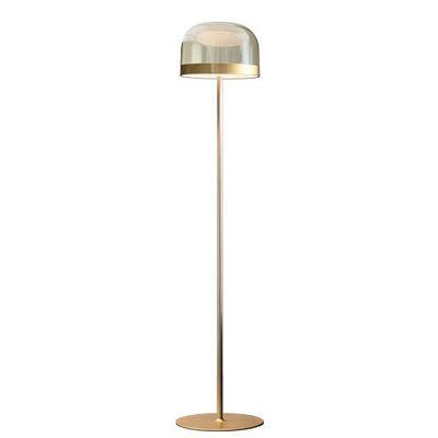 Illuminazione - Lampade da terra - Lampada a stelo Equatore Large - / LED - Vetro - H 175 cm di Fontana Arte - Oro e trasparente - Metallo, vetro soffiato