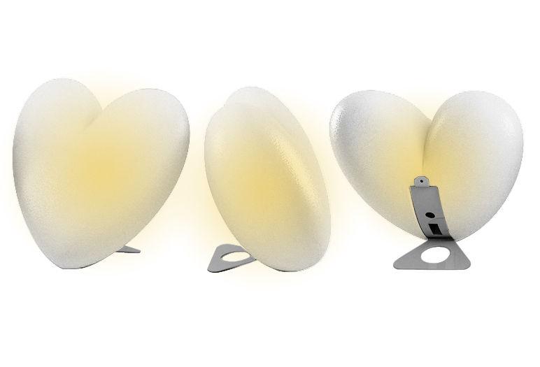 Lampada d'atmosfera Love - versione da appoggio di Slide - Bianco - Polietilene