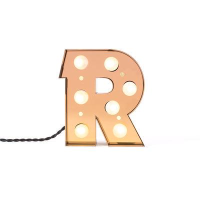Interni - Per bambini - Lampada da tavolo Caractère - / Applique - Lettera R - H 20 cm di Seletti - R - metallo laccato