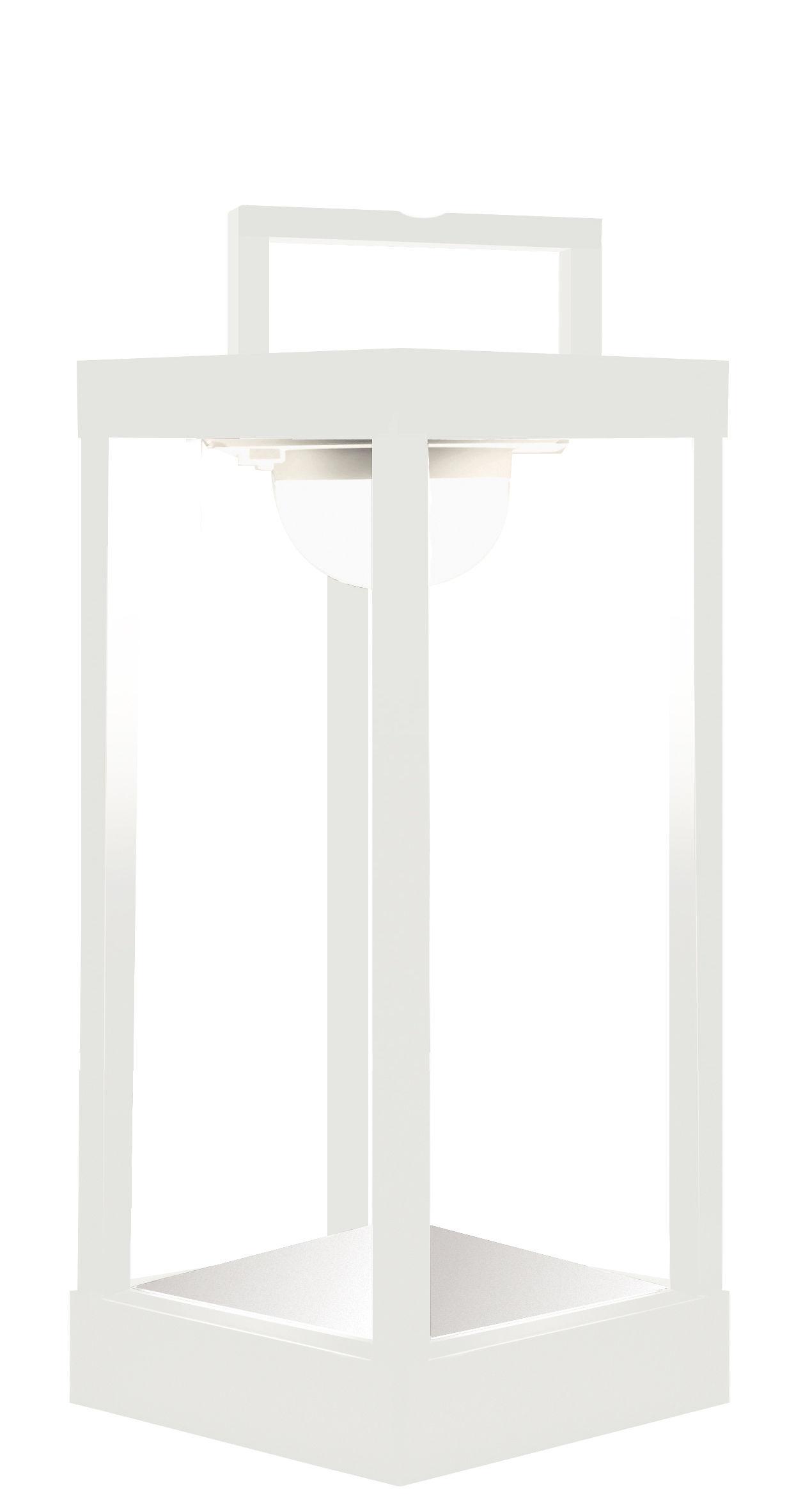Luminaire - Lampes de table - Lampe solaire La Lampe Parc M LED / Hybride & connectée - Dock USB - H 40 cm - Maiori - Blanc - Aluminium, Verre