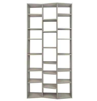 Arredamento - Scaffali e librerie - Libreria New York 007 / L 110 x H 224 cm - POP UP HOME - Grigio - Agglomerato verniciato