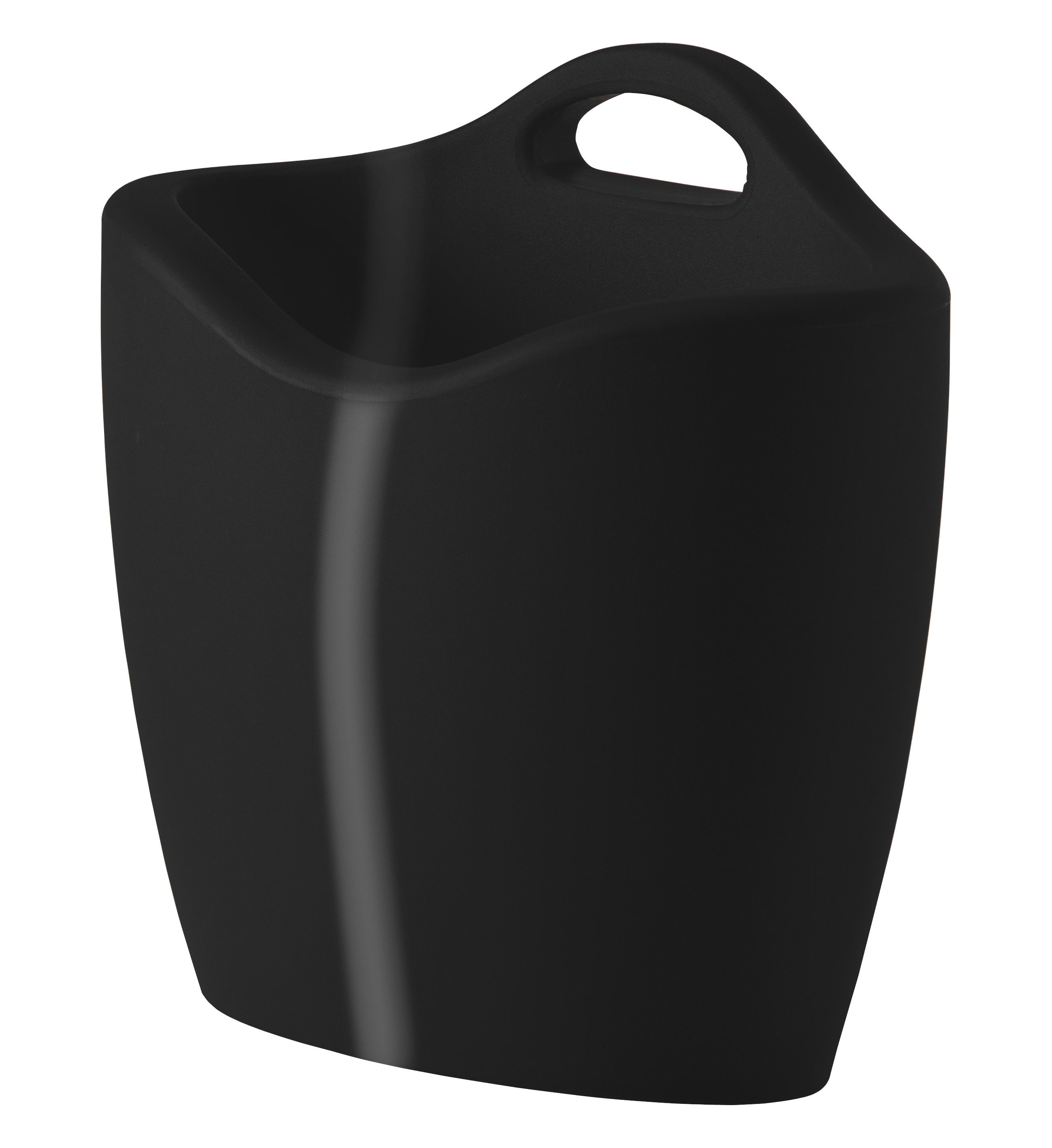 Decoration - Boxes & Baskets - Mag Magazine holder - Lacquered version by Slide - Lacquered black -