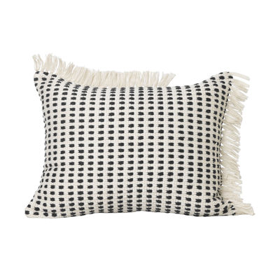 Decoration - Cushions & Poufs - Way Outdoor cushion - / 70 x 50 cm - Recycled plastic bottles by Ferm Living - Off-white / Blue - Recycled polyester
