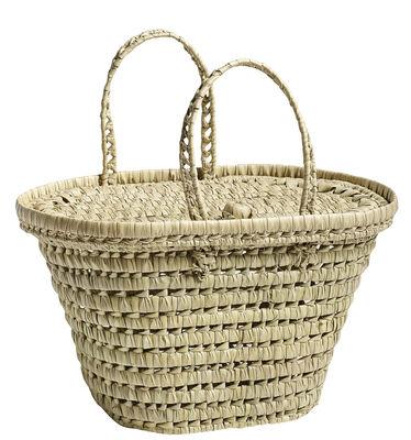 Accessoires - Sacs, trousses, porte-monnaie... - Panier à pique-nique Picnic / Con coperchio - Fatto a mano - Hay - Naturel - Fibre végétale
