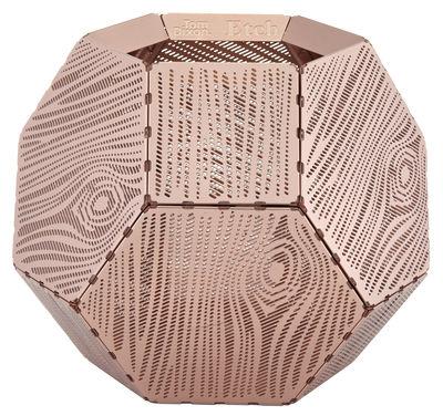 Déco - Bougeoirs, photophores - Photophore Etch / Motif bois - Tom Dixon - Cuivre - Aluminium anodisé