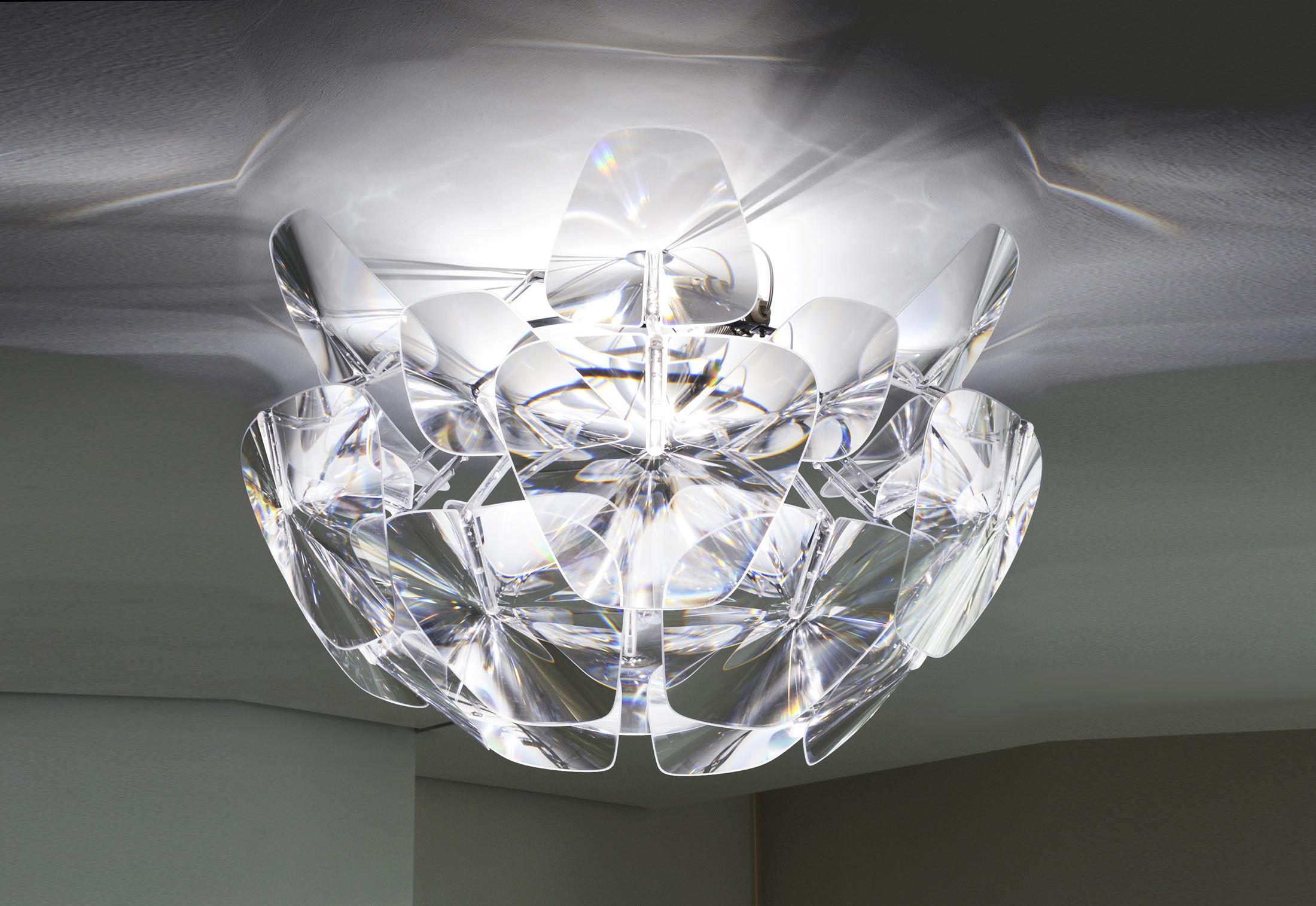 Plafoniera Grandi Dimensioni : Hope plafoniera trasparente by luceplan made in design