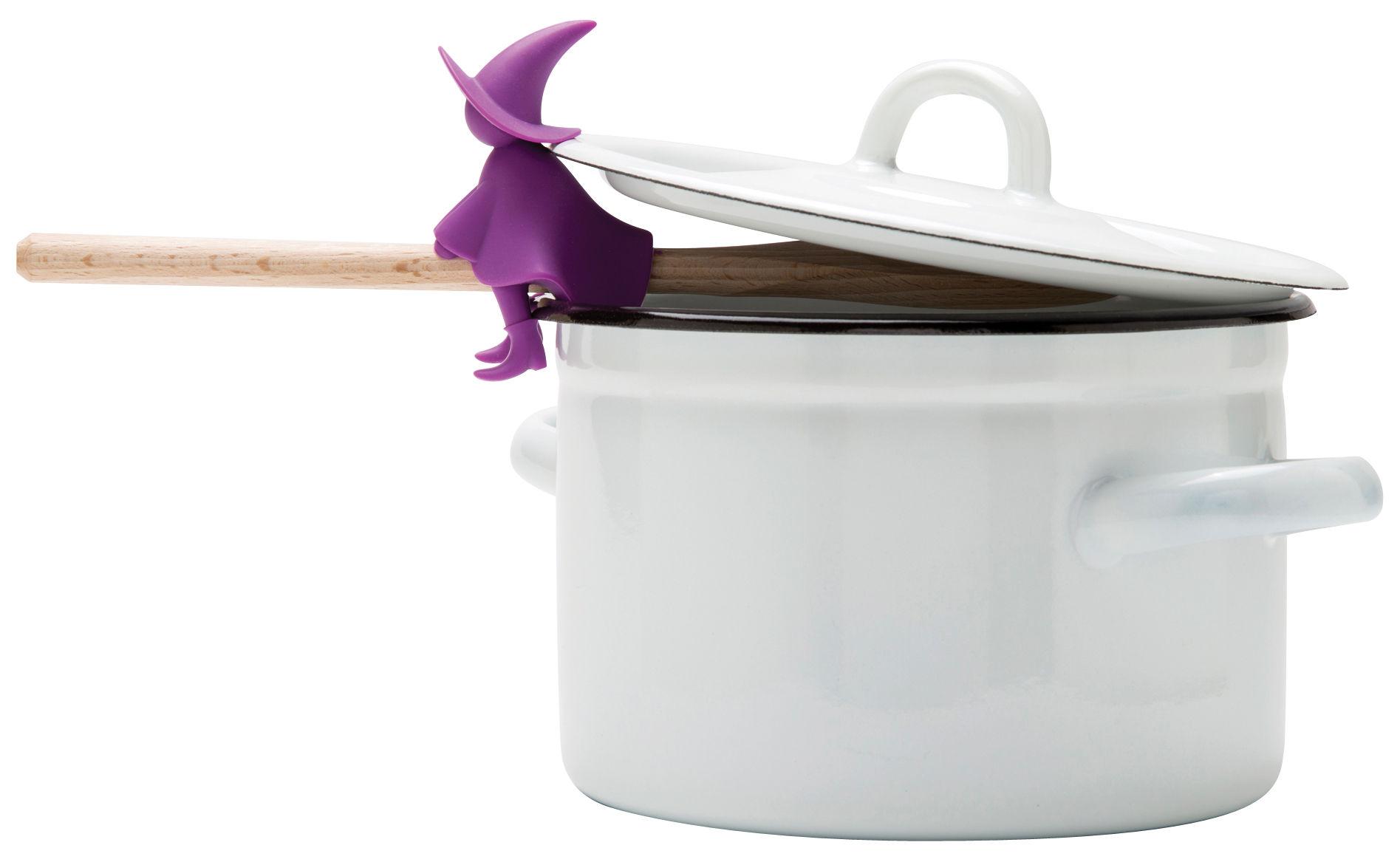 Cucina - Utensili da cucina - Poggiacucchiaio Agatha - / Lascia passare il vapore di Pa Design - Viola - Silicone
