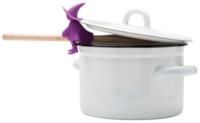 Cuisine - Ustensiles de cuisines - Repose-cuillère Agatha / Echappe vapeur - Pa Design - Violet - Silicone