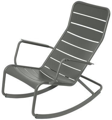 Rocking chair Luxembourg / Aluminium - Fermob romarin en métal
