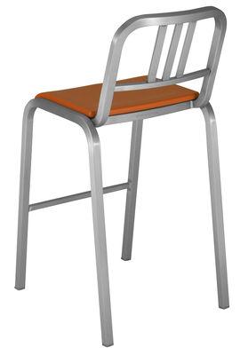 Arredamento - Sgabelli da bar  - Sedia da bar Nine-O - h 75 cm di Emeco - Alluminio opaco / Arancio - Alluminio riciclato, Poliuretano