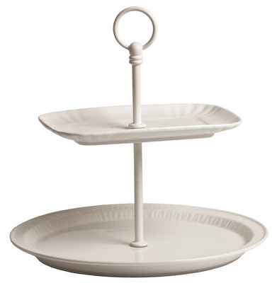Tischkultur - Platten - Estetico Quotidiano Servierplatte / Ø 28 x H 25,5 cm - Seletti - Weiß - Porzellan