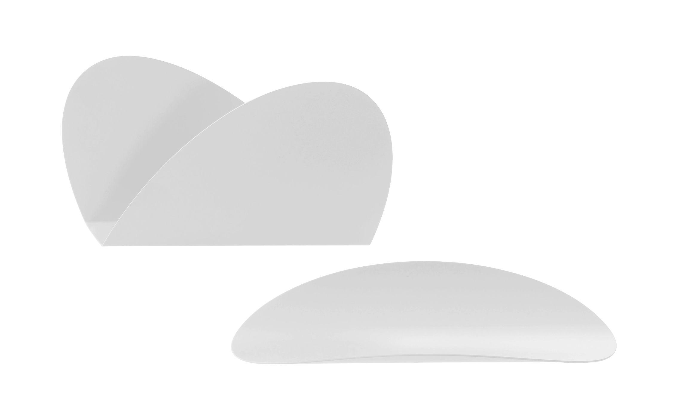 Accessoires - Accessoires bureau - Set Ellipse pour bureau / 1 plateau + 1 porte-enveloppes - Alessi - Blanc - Acier