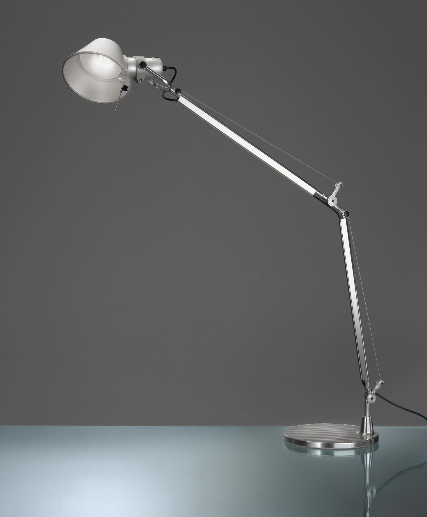 Lighting - Floor lamps - Tolomeo LED Small reading lamp - LED - H 167 cm by Artemide - LED - Aluminium - Aluminium