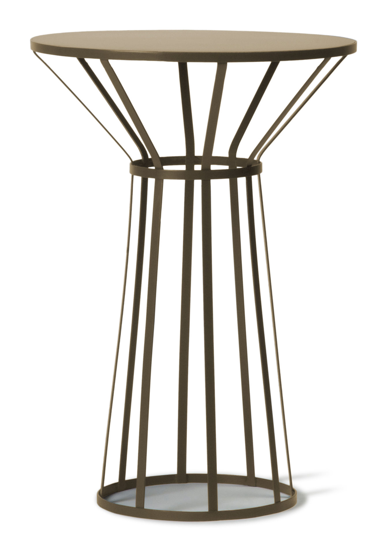 Furniture - Coffee Tables - Hollo Small table - H 73 cm by Petite Friture - Mat gold - Epoxy painted stainless steel