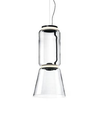 Illuminazione - Lampadari - Sospensione Noctambule Cône n°1 - / LED - Ø 36 x H 82 cm di Flos - H 82 cm / Transparent - Acciaio, Ghisa di alluminio, vetro soffiato