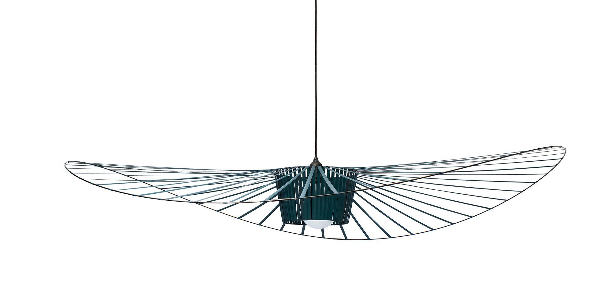 Illuminazione - Lampadari - Sospensione Vertigo - small Ø 140 cm di Petite Friture - Verde - Fibra di vetro, Poliuretano