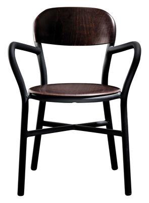 Pipe Stapelbarer Sessel Variante Holz - Magis - Schwarz,Buche dunkel