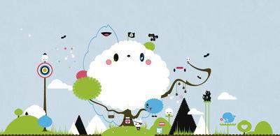 Dekoration - Stickers und Tapeten - Cloud Sticker - Domestic - Bunt - Vinyl