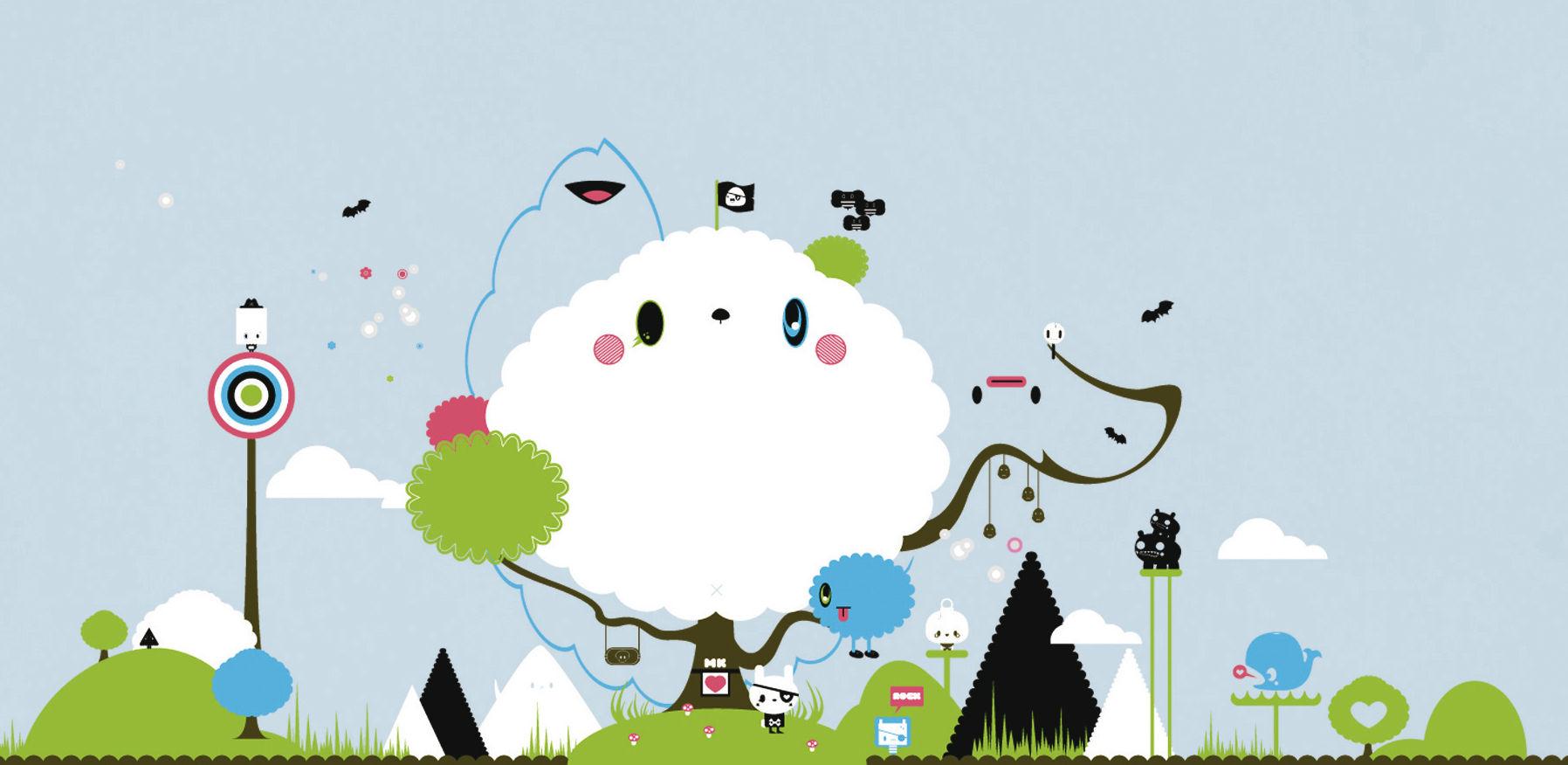 Déco - Stickers, papiers peints & posters - Sticker Cloud - Domestic - Multicolore - Vinyle