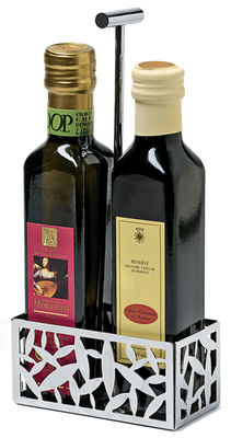 Tavola - Portaolio e Portacondimenti - Supporto per ampolla olio e aceto Cactus! di Alessi - Acier - Acciaio inossidabile
