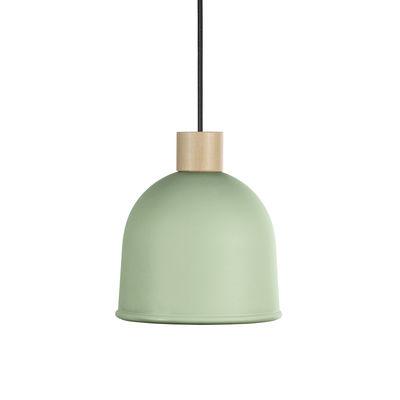 Luminaire - Suspensions - Suspension Ons / Ø 21,4 cm - Métal & bois - EASY LIGHT by Carpyen - Vert Aloe - Hêtre, Métal laqué