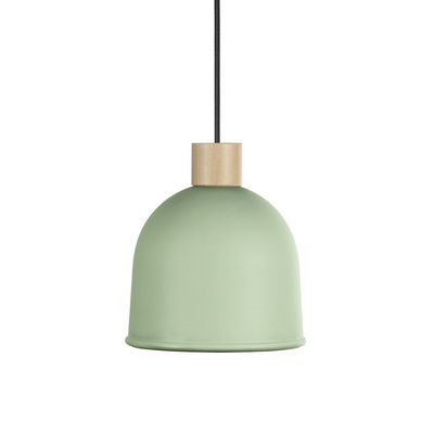 Suspension Ons / Ø 21,4 cm - Métal & bois - EASY LIGHT by Carpyen hêtre naturel,vert aloe en métal