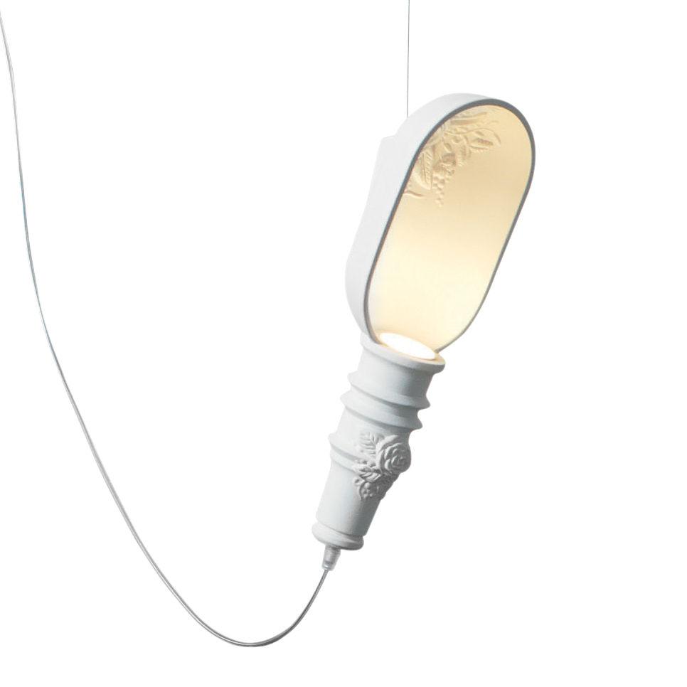 Luminaire - Suspensions - Suspension Work in progress / Céramique - H 39 cm - Karman - Blanc - Céramique