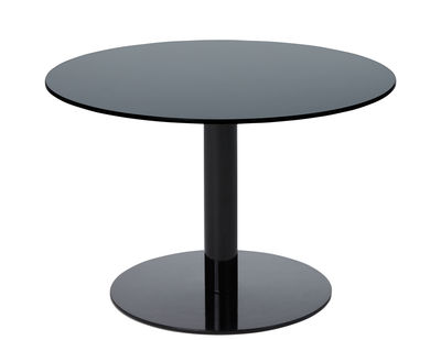 Table basse Flash / Verre - Ø 60 x H 40 cm - Tom Dixon noir en verre