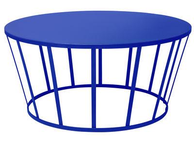 Table basse Hollo / Ø 70 x H 33 cm - Petite Friture bleu en métal