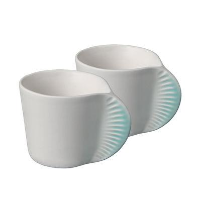 Tasse à café Morphose Set de 2 Ibride bleu azur en céramique