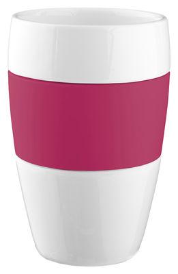 Tischkultur - Tassen und Becher - Aroma Tasse H 13 cm - Koziol - Himbeer rot - Polypropylen, Porzellan