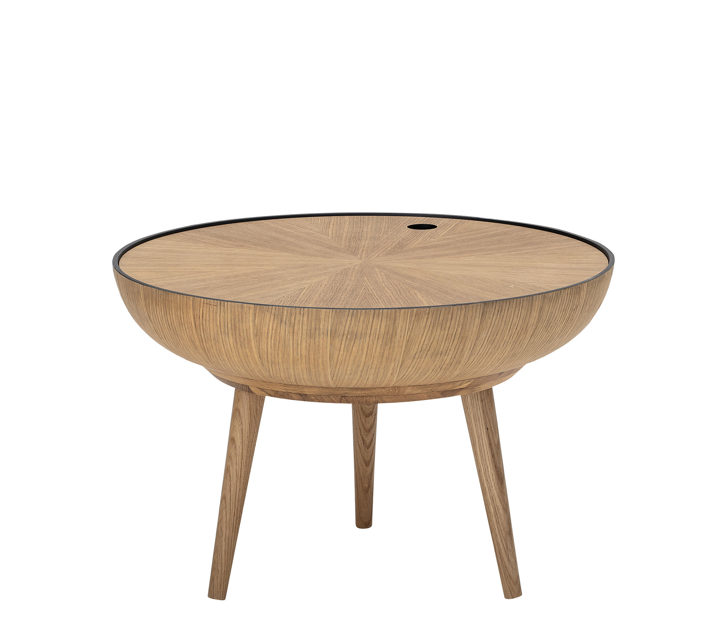 Arredamento - Tavolini  - Tavolino Ronda - / Piano rimovible - Ø 60 cm di Bloomingville - Quercia naturale - Rovere