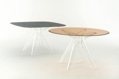 Tavoli Quadrati Di Design.Tavolo Quadrato Sir Gio Vetro 120 X 120 Cm Di Kartell