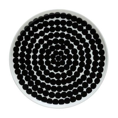 Assiette à dessert Räsymatto / Ø 20 cm - Marimekko blanc,noir en céramique