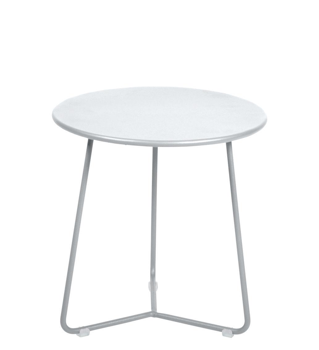 Möbel - Couchtische - Cocotte Beistelltisch / Hocker - Ø 34 cm x H 36 cm - Fermob - Baumwollweiß - bemalter Stahl