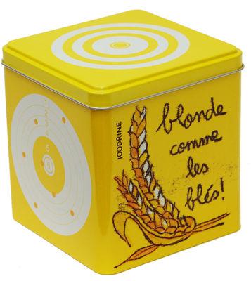 Arts de la table - Boites et pots - Boîte Cible Farine - 100drine pour Sentou Edition - Farine - Jaune - Métal