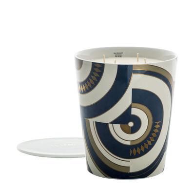 Bougie parfumée Ilum / Or égyptien - Ø 15 x H 22 cm - Max Benjamin bleu,or en verre