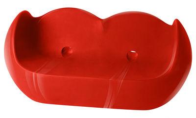 Canapé droit Blossy / L 159 cm - Version laquée - Slide laqué rouge en matière plastique