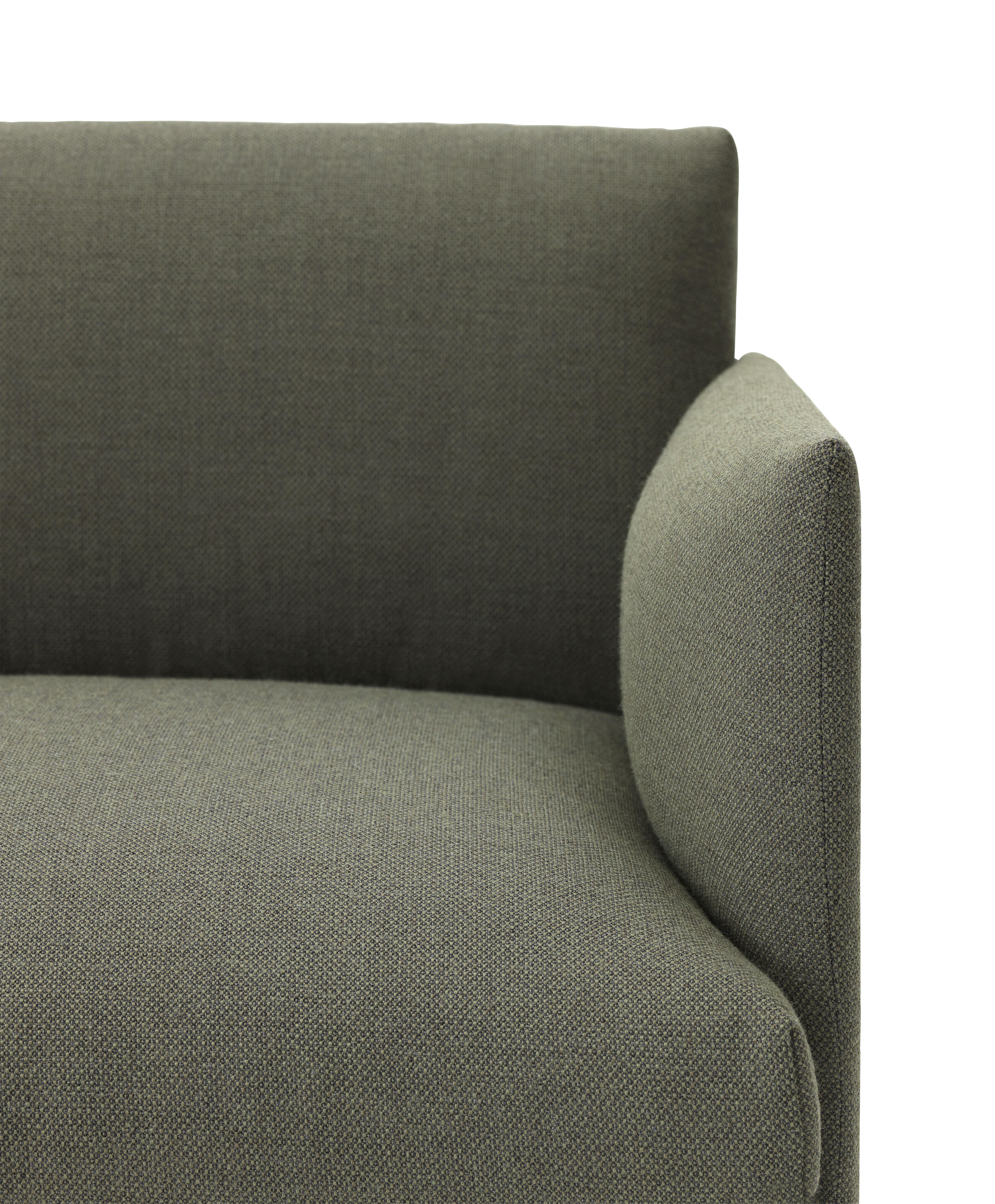 canap droit outline l 170 cm tissu vert kaki pieds noirs muuto. Black Bedroom Furniture Sets. Home Design Ideas