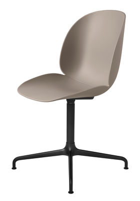 Chaise pivotante Beetle / Gamfratesi - Gubi noir,beige en métal