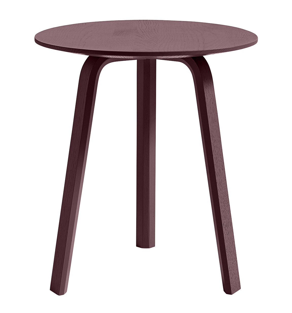 Furniture - Coffee Tables - Bella Coffee table - / Ø 45 x H 49 cm by Hay - Burgundy - Tinted oak