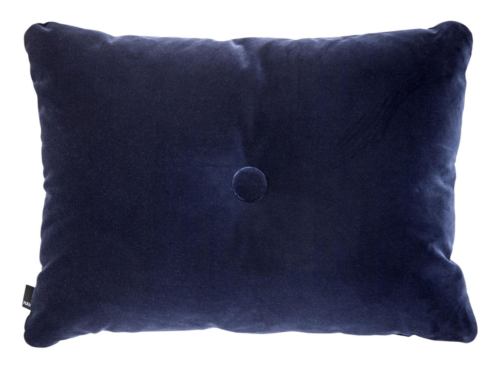 Déco - Coussins - Coussin Dot - Velours / 60 x 45 cm - Hay - Bleu marine - Coton (velours)