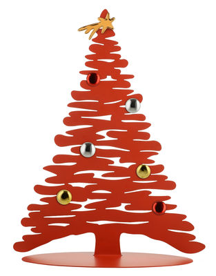 Décoration Bark Tree / Sapin avec aimants colorés - H 45 cm - Alessi rouge en métal