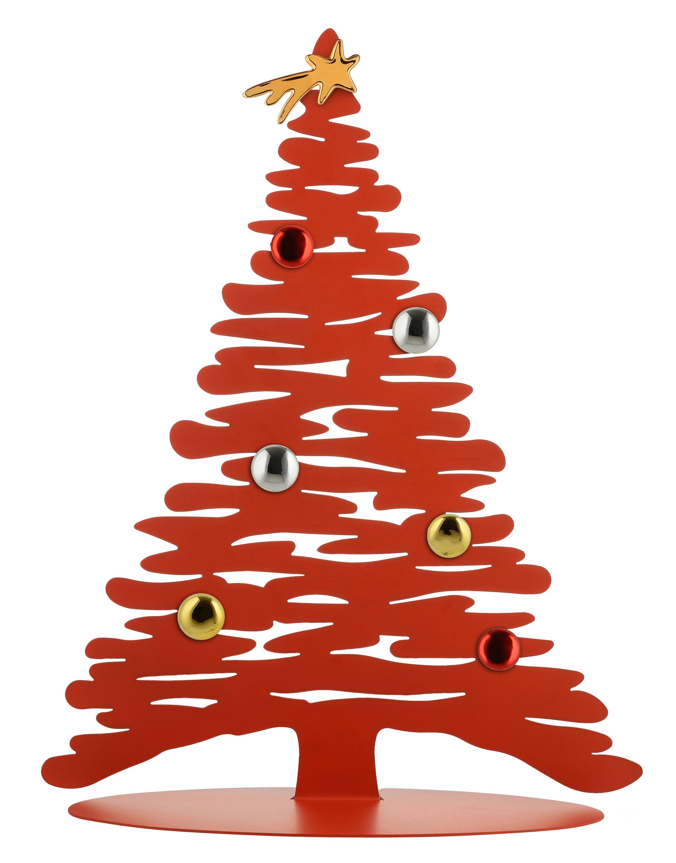 Déco - Objets déco et cadres-photos - Décoration Bark Tree / Sapin avec aimants colorés - H 45 cm - Alessi - Rouge - Acier, Porcelaine