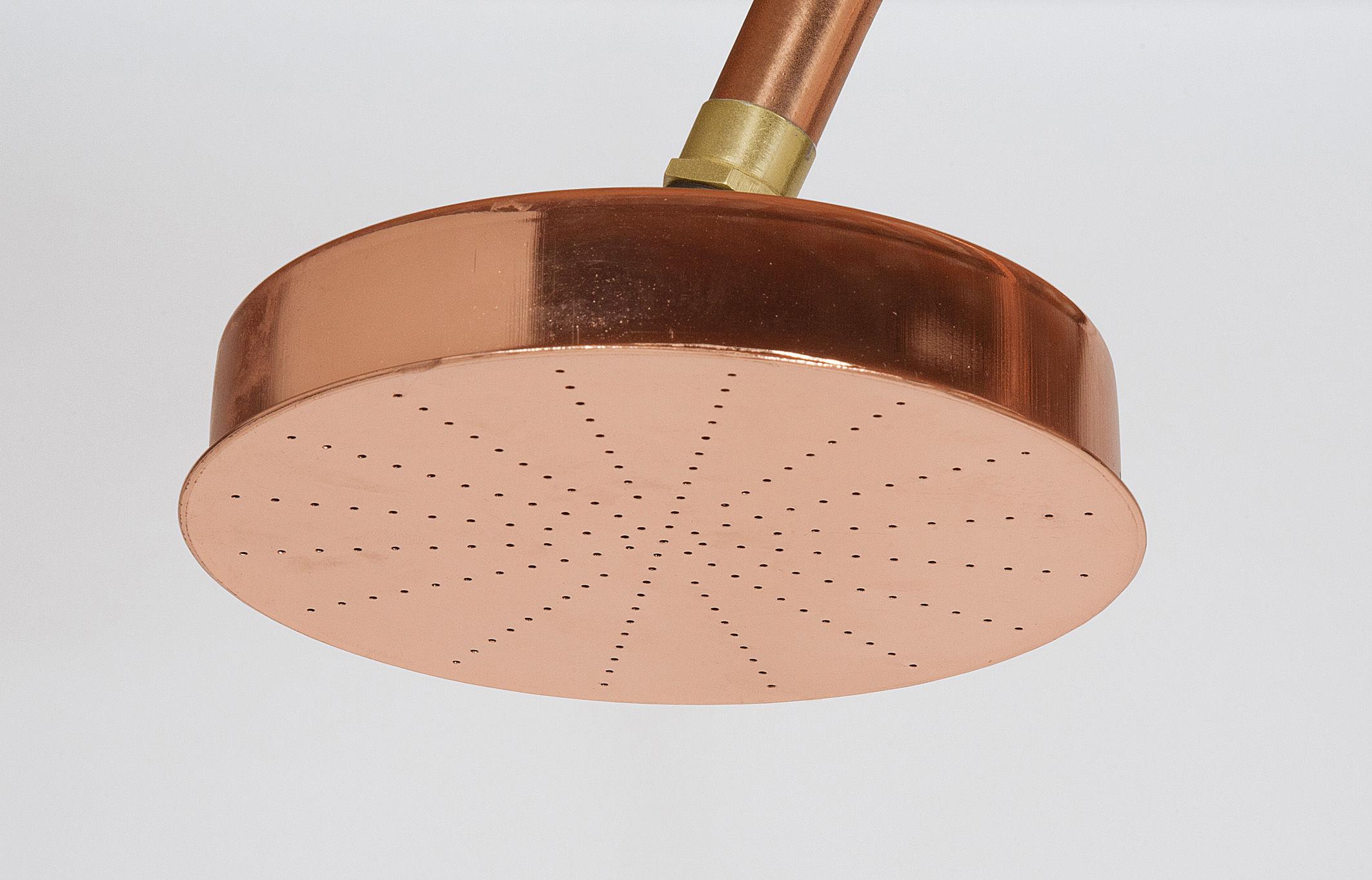 Aquart lux doccia per esterni rame & cemento rame cemento