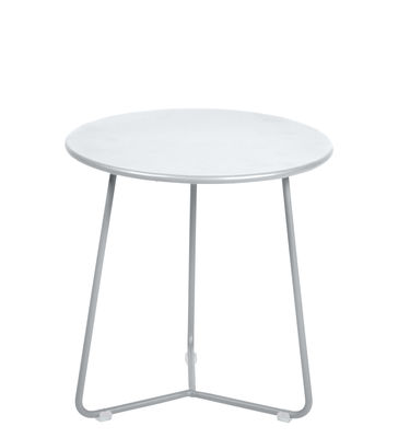 Furniture - Coffee Tables - Cocotte End table - / Stool - Ø 34 x H 36 cm by Fermob - Cotton white - Painted steel