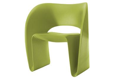 Mobilier - Chaises, fauteuils de salle à manger - Fauteuil Raviolo / Plastique - Magis - Vert pistache - Polyéthylène rotomoulé