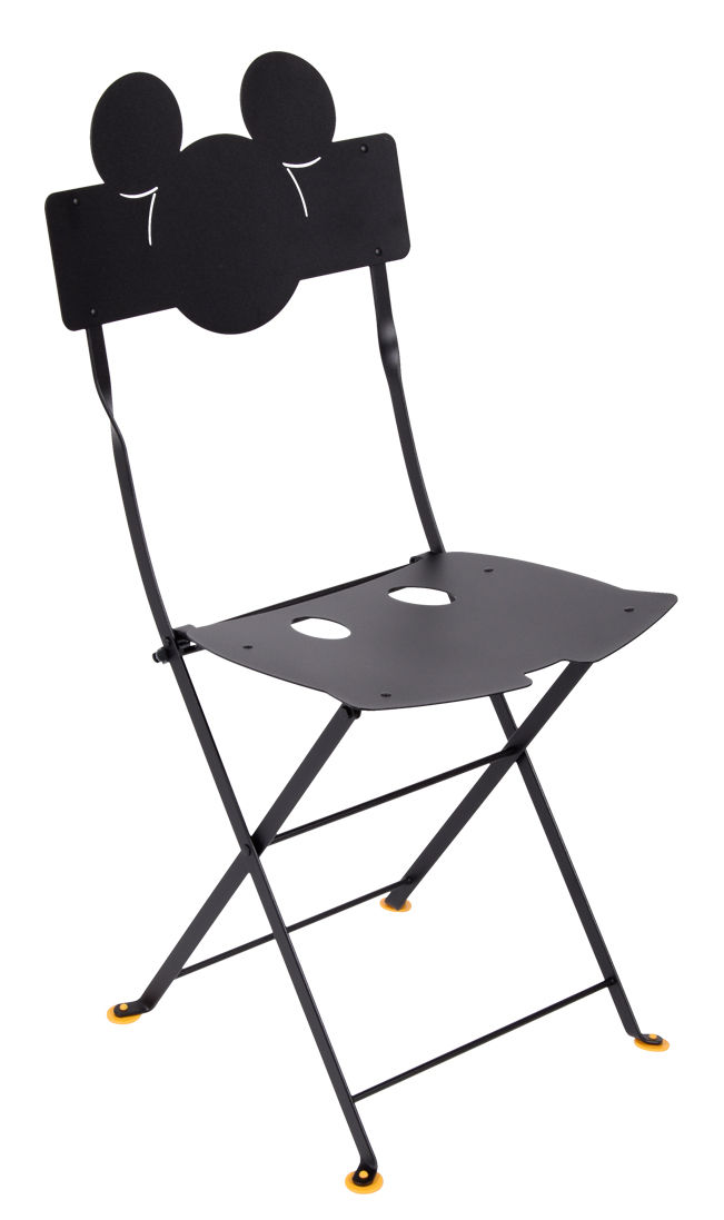 Furniture - Chairs - Bistro Mickey Folding chair - / Metal by Fermob - Licorice - Lacquered steel