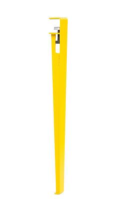 Möbel - Büromöbel - Fuß aus Stahl mit Klammersystem / H 75 cm - Um Tische & Schreibtische zu gestalten - TipToe - Kobaltgelb - thermolackierter Stahl