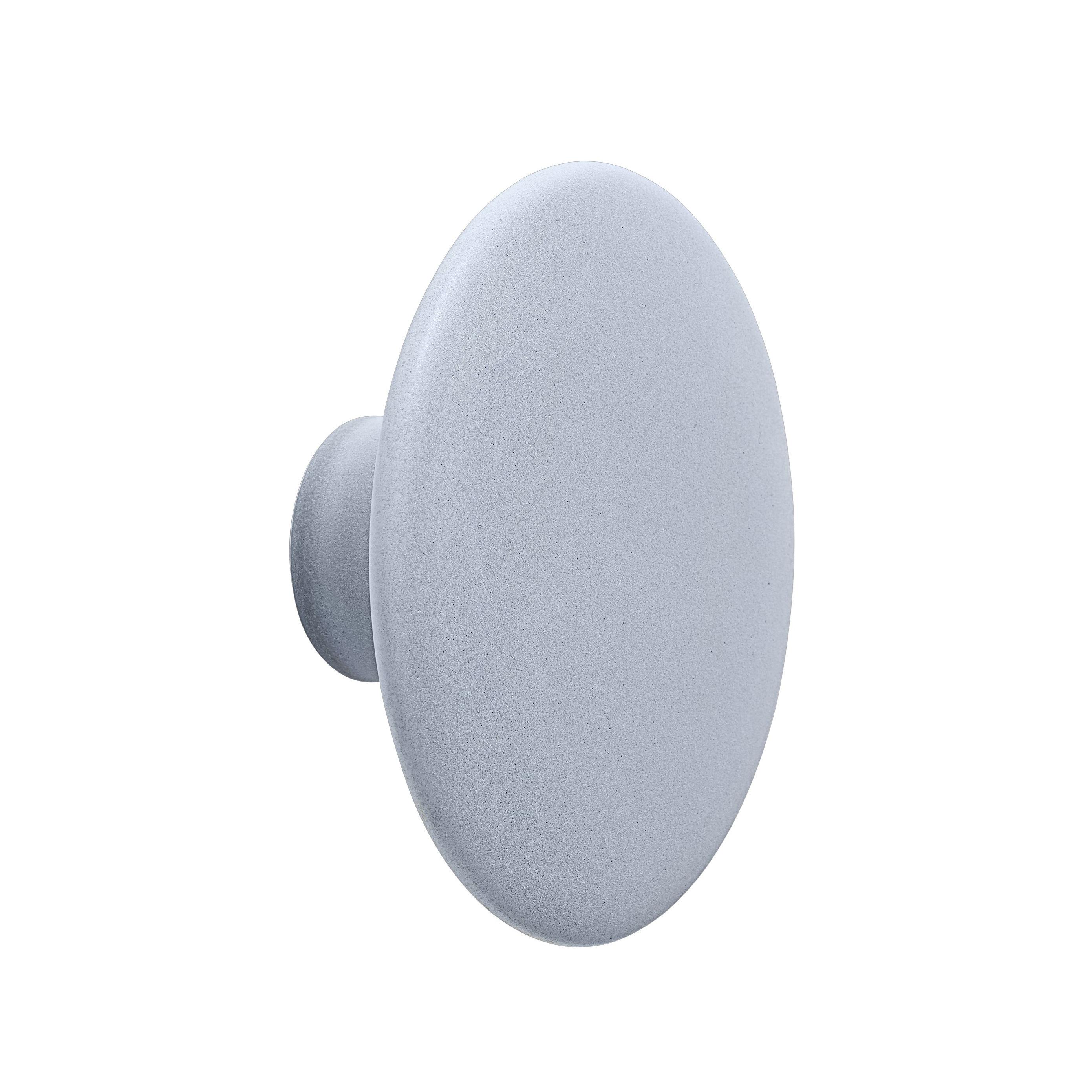 Furniture - Coat Racks & Pegs - The Dots Ceramic Hook - / Medium - Ø 13 by Muuto - Sky blue - Enamelled earthenware